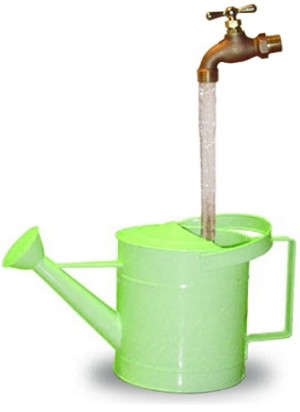 Small Watering Can Fountain - Lime